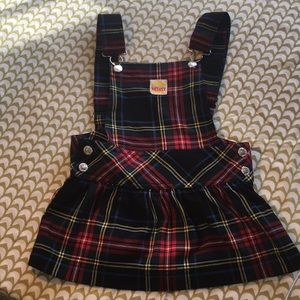 Plaid overall dress 4t